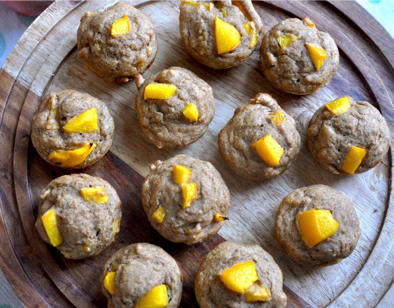 Banana & Peach Muffins